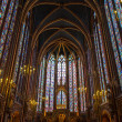 Interior of Sainte-Chapelle, Paris, france — Stock Photo