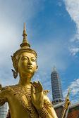 Welcome to Bangkok - Kinnari statue at Wat Phra Kaew — Stock Photo