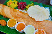 Dosa, crispy savory pancake from South India — Stock Photo