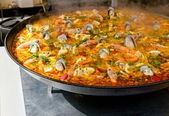 Closeup of paella — Stock Photo