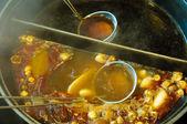 Nabemono, japanese hot pot — Stock Photo