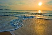 Tropical beach at sunrise — Stock Photo