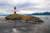 Les Eclaireurs lighthouse, Beagle channel, Argentina — Zdjęcie stockowe