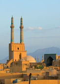 Sunset over ancient city of Yazd, Iran — Stock Photo