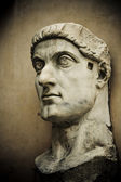 Head of emperor Constantine, Capitol, Rome — Stock Photo