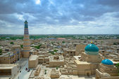 Panorama of an ancient city of Khiva, Uzbekistan — Stock Photo