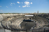 Arenas of Nimes, Roman amphitheater in Nimes, France — Stock Photo
