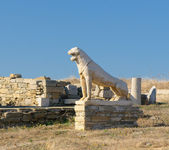 The Terrace of the Lions, Delos island, Greece — Stock Photo