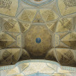 Dome of an ancient mosque, oriental ornaments from Isfahan, Iran — Stock Photo