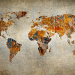 Grunge map of the world — Stock Photo