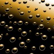 Droplets on metal surface — Stock Photo