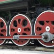 Wheels of retro steam train — Stockfoto