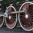 Wheels of vintage steam train — Stock Photo