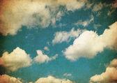 Immagine retrò di cielo nuvoloso — Foto Stock
