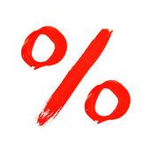 百分比符号 — 图库照片