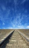Railroad tracks to nowhere — Стоковое фото