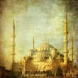 Vintage image of Blue Mosque, Istambul - Stock Photo