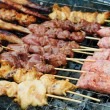 Stock Photo: Grilled satay, street food in thailand