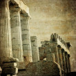 Vintage image of greek columns, Acropolis, Athens, Greece — Stock Photo
