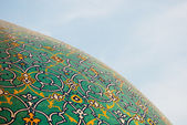 Dome of the mosque over blue sky, Isfahan, Iran — Stock Photo
