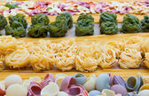 Various italian pastas — Stock Photo