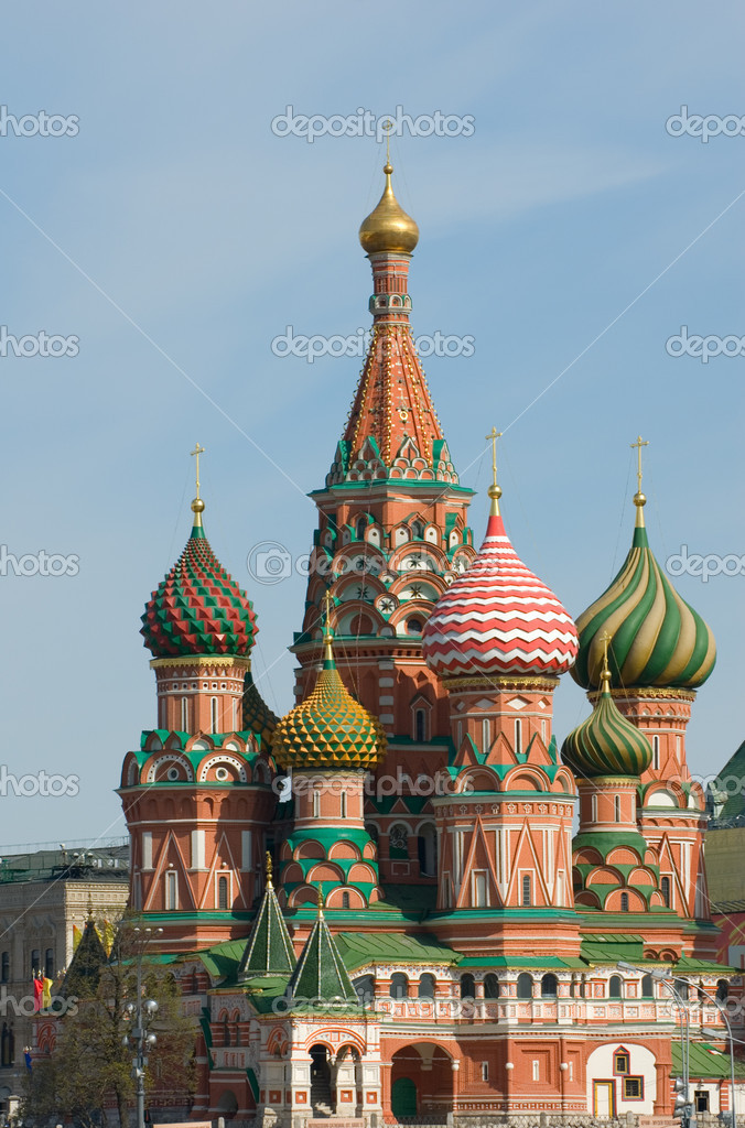Saint Basil's Cathedral, Red Square, Moscow, Russia — Stock Photo #9389349