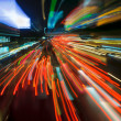 Traffic lights in motion blur - Foto Stock