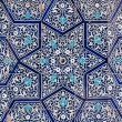Tiled background, oriental ornaments from UzbekistanTiled backg — Stock Photo