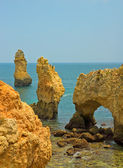 Coastline of Algarve, Portugal — 图库照片
