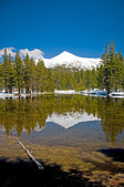Reflejando en el lago de la montaña — Foto de Stock