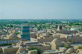 Panorama di un'antica città di khiva, uzbekistan — Foto Stock