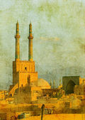 Vintage image of Yazd, Iran — Stock Photo