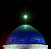 Dome of mosque in the night, Yazd, Iran — Stock Photo
