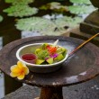 Stock Photo: Traditional balinese offerings