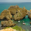 Coastline of Algarve, Portugal - Stock Photo