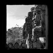 Caras de bayon templo angkor, camboya — Foto de Stock