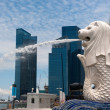 Merlion statue, landmark of Singapore — Stock Photo #9465037