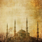 Vintage image of Blue Mosque, Istambul — Stock Photo
