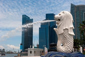 Merlion statue, landmark of Singapore — Stock Photo