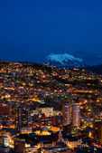 Panorama of night La Paz, Bolivia — Stock Photo