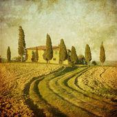 старинный тосканский пейзаж — Стоковое фото