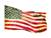 Grunge image of american flag — Stock Photo