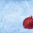 Royalty-Free Stock Photo: Bauble over grunge texture, nice christmas background