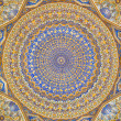 Dome of the mosque, oriental ornaments from Samarkand — Stock Photo