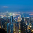 Royalty-Free Stock Photo: Hong Kong at night, view from Victoria Peak