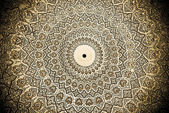 Dome of the mosque, oriental ornaments from Samarkand, Uzbekista — Stock Photo