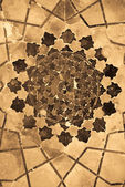 Dome of the mosque, oriental ornaments from Bukhara, Uzbekistan — Stock Photo