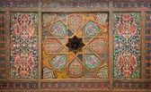 Wooden ceiling, oriental ornaments from Khiva, Uzbekistan — Stock Photo