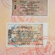 Passport with turkish visa and stamps — Stock Photo #9492749
