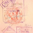 Passport stamps - visa on arrival to thailand - Стоковая фотография
